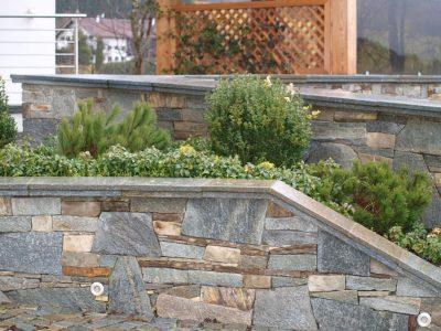 Naturstein Rechenauer Garten Mauer Wasser Brunnen Gartendekoration Einzelstück Terrasse Einfassung Gneis Granit Kalkstein Haus