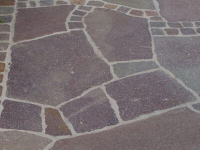 Porphyr Polygonal Bruch Sonderpreis Hauseinfahrt Parkplatz Hauseingang Gartenweg Terrasse Einfassung Naturstein Rechenauer Südtirol Familienbetrieb Ausbildungsbetrieb Meisterbetrieb